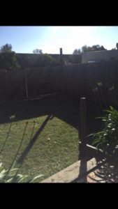 Backyard before a Tropical Backyards makeover